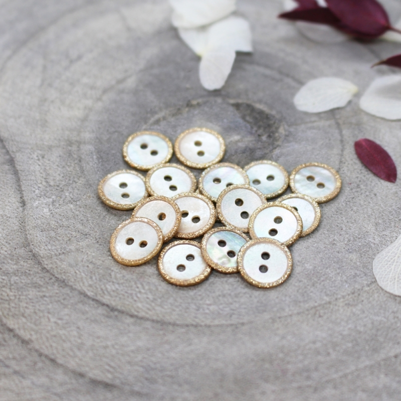 ATELIER BRUNETTE Glitz Buttons - Off-White