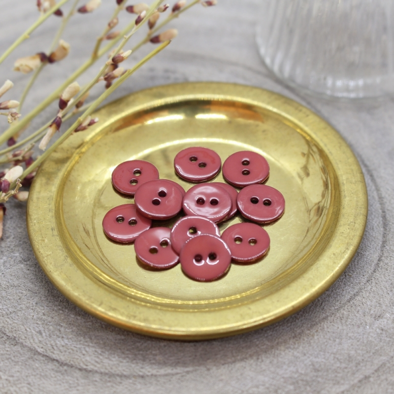 ATELIER BRUNETTE Glossy Buttons - Terracotta 10mm