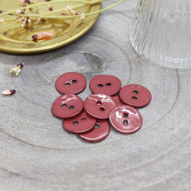 ATELIER BRUNETTE Glossy Buttons - Terracotta 14mm